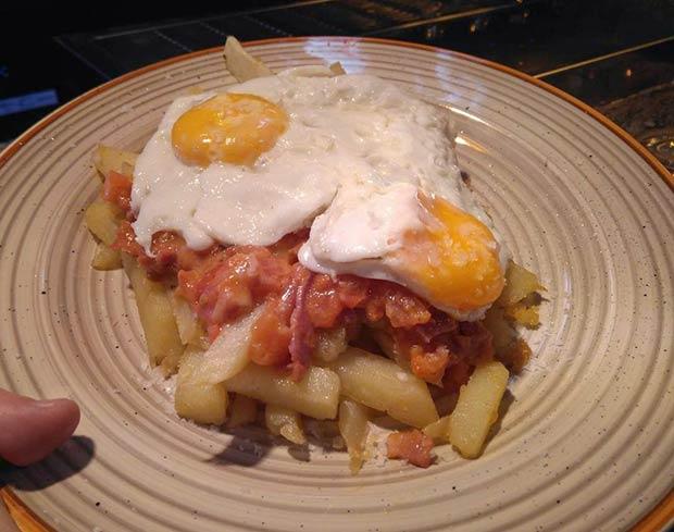 Huevos Rotos del Costa 8 Restaurante en Zaragoza