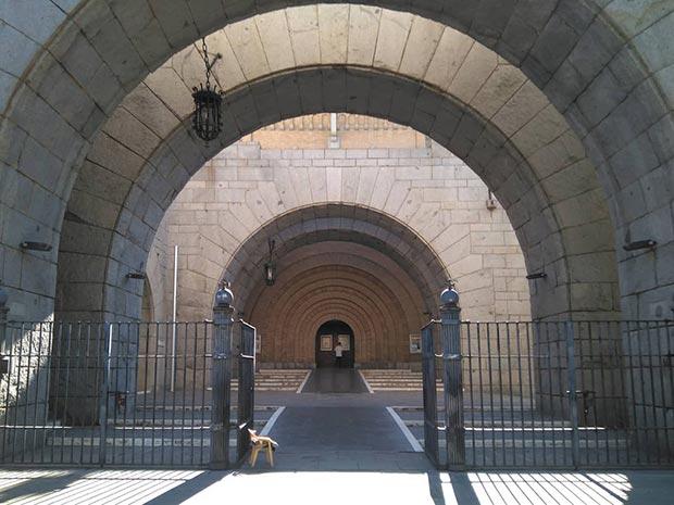 entrada de la iglesia de san antonio de zaragoza