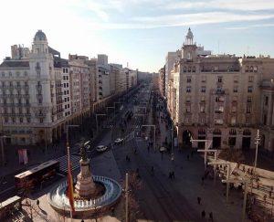 El Paseo de la Independencia visto desde Puerta Cinegia