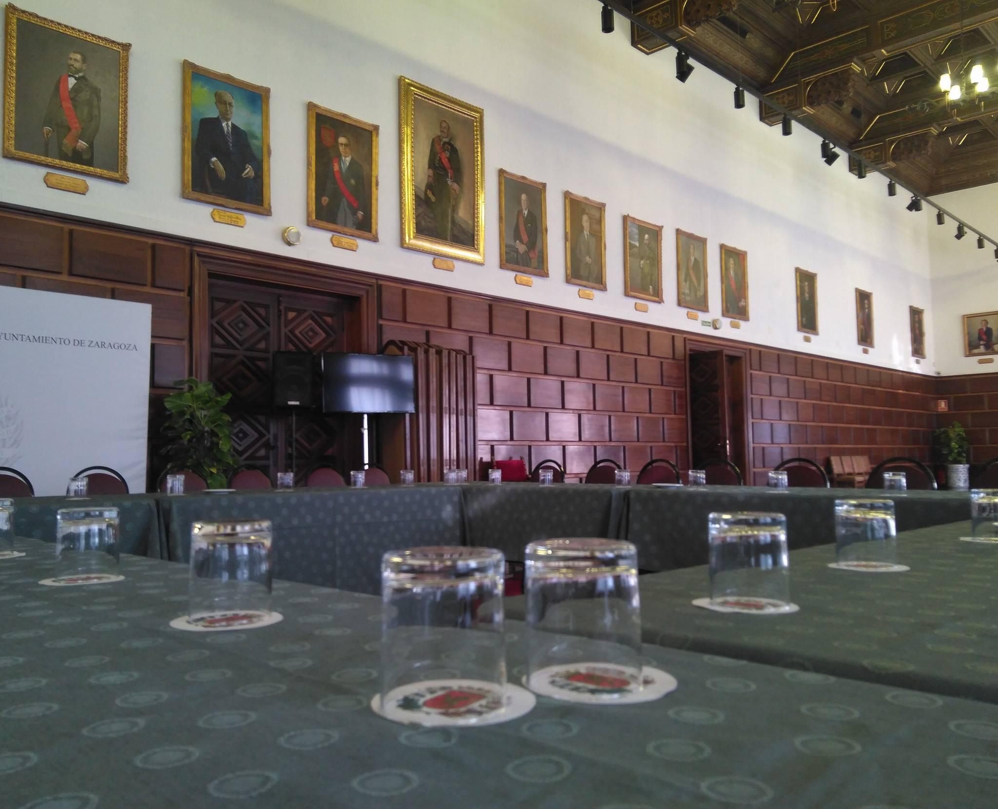Salón de recepciones del Ayuntamiento de Zaragoza