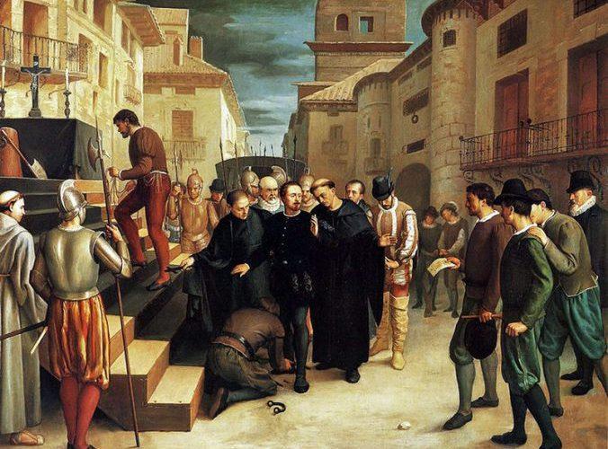 Los últimos momentos de Lanuza, óleo sobre lienzo, Eduardo López del Plano, Diputación de Zaragoza, 1864