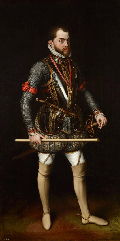 Retrato de Felipe II, por Antonio Moro, que se conserva en El Escorial. (Dominio público)