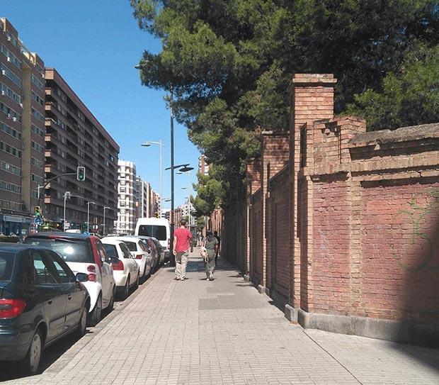 Avenida Tenor Fleta a su paso por el colegio San Agustín