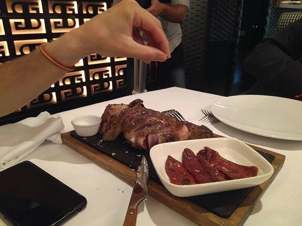 Chuleton en zaragoza en el Restaurante Santa Belinda