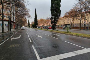 Cruce del Camino de las Torres con la Avenida Tenor Fleta