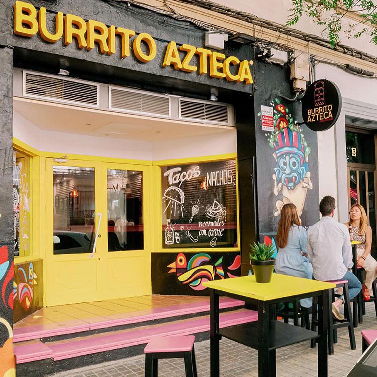 El Burrito Azteca en la zona Univeristaria