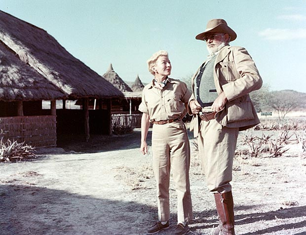 Hemingway and Mary in Africa before the two plane accidents