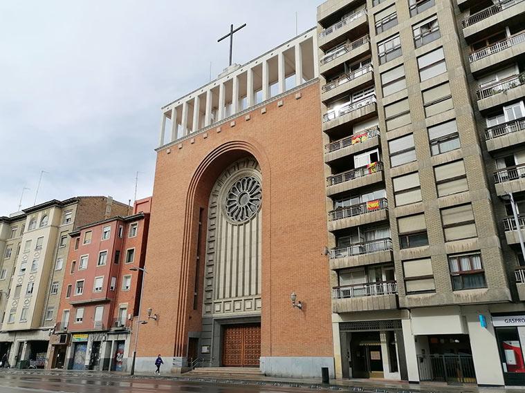 Iglesia Parroquial del Corazon de Maria en la Avenida Goya de Zaragoza