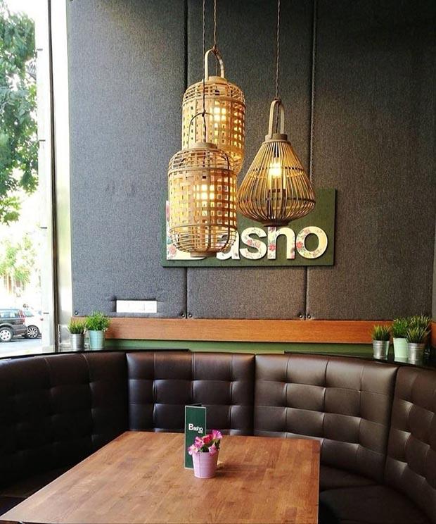 Interior del Basho cafe en calle Sanclemente