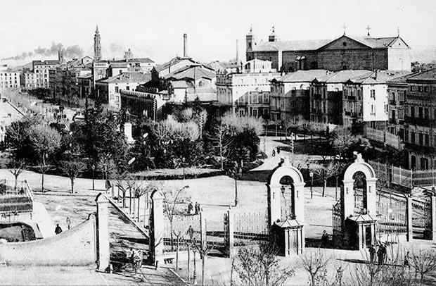 La Plaza de Aragón en 1900