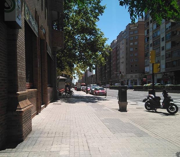 La avenida Tenor Fleta a la altura del andador Puntes