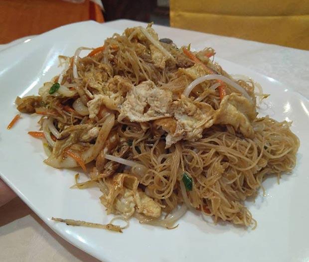Plato principal en el Restaurante Xin Qiao