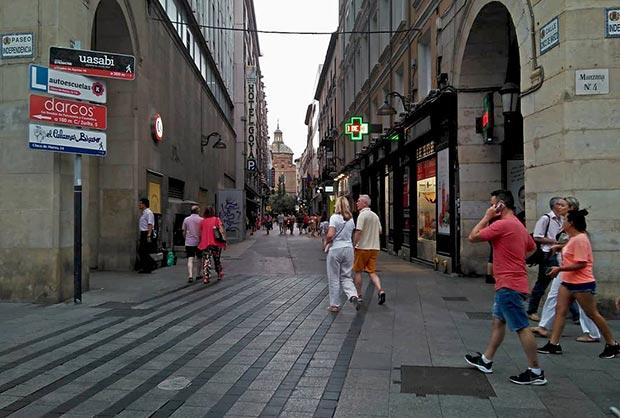 Calle Cinco de Marzo esquina a Paseo Independencia