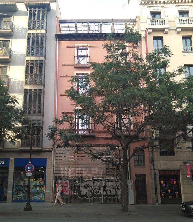 edificio del coso numero 9 de zaragoza