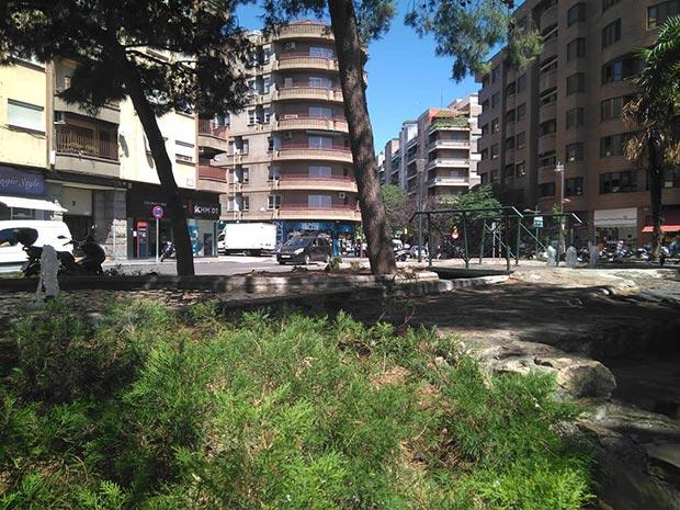 plaza de Albert Schweitzer en Zaragoza