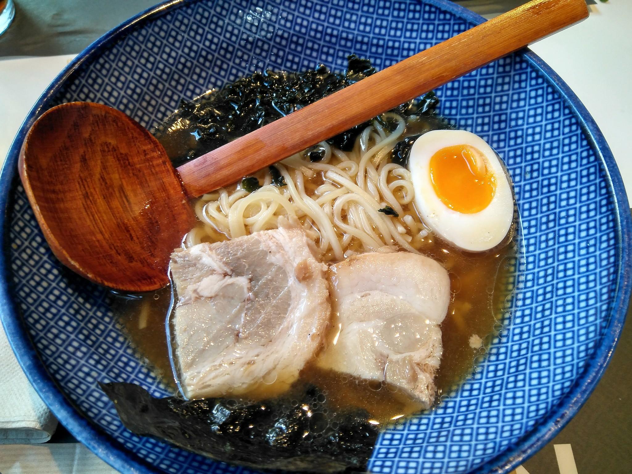 Noodles en el restaurante Udon