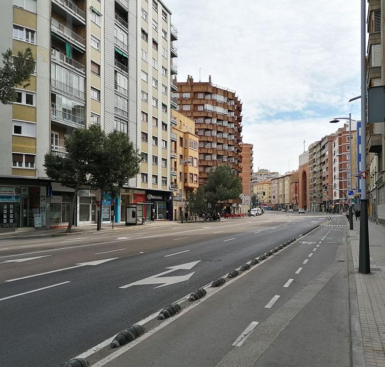 vista de la avenida gota desde la rotonda de los zagries