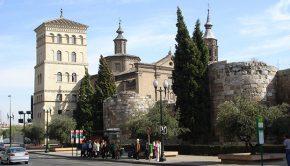 Los restos de la antigua Muralla Romana de Zaragoza