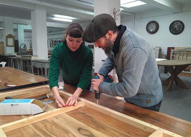 Taller artesanal de muebles de madera en Zaragoza