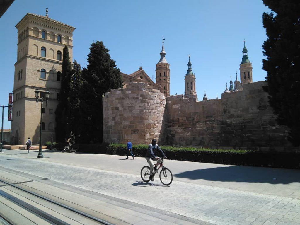 restos de la antigua Muralla Romana de Zaragoza