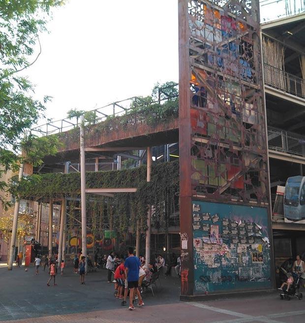 jardin vertical de la calle delicias de zaragoza