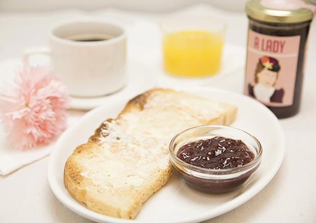 mermelada en el desayuno de mi habitacion favorita