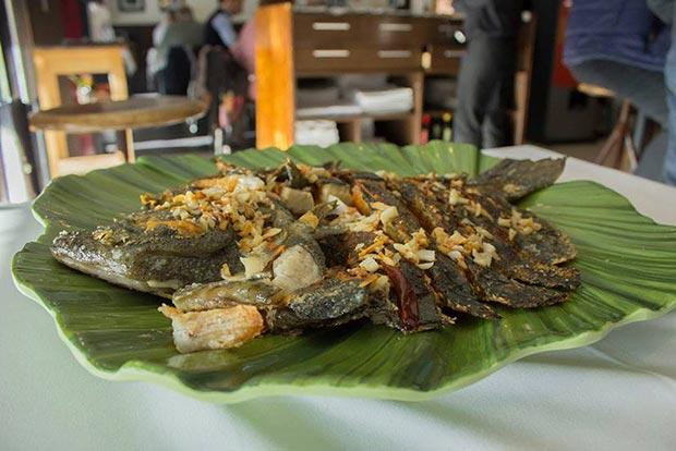 plato de pescado del restaurante azarina fusion zaragoza