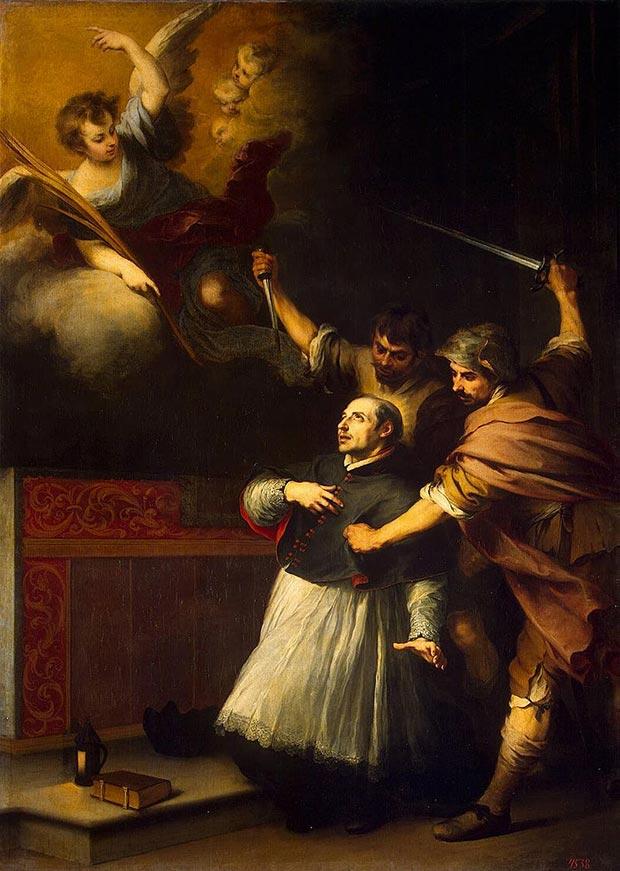 El martirio de San Pedro de Arbués (1664), por Murillo (Museo del Hermitage, San Petersburgo).