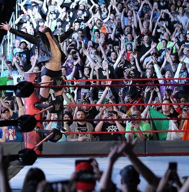Finn Balor en WWE Live en el Pabellón Principe Felipe de Zaragoza