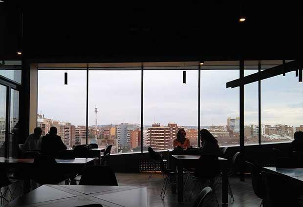 Mirador de la Cafetería-Restaurante del CaixaForum Zaragoza