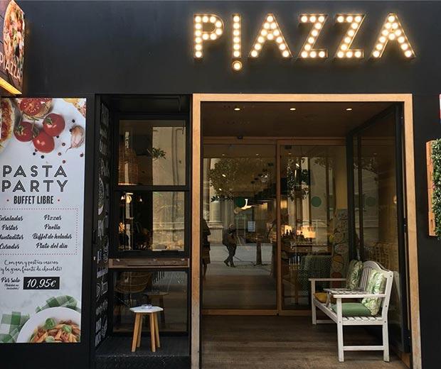 Exterior del Restaurante Piazza en Zaragoza