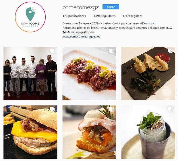 mejores cuentas instagram zaragoza comecomezgz