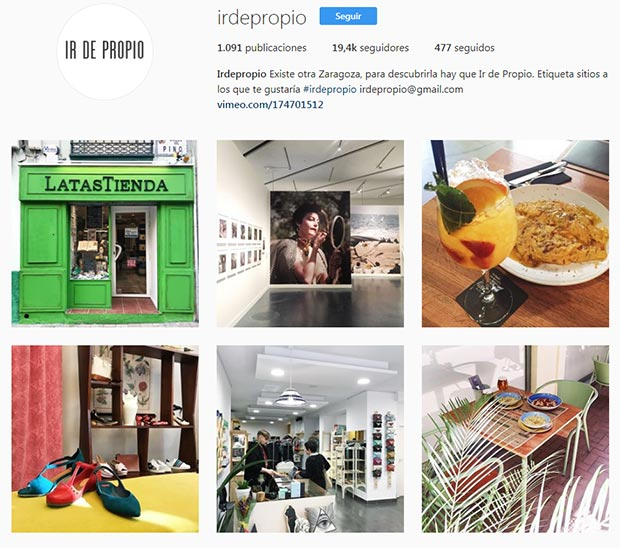 mejores cuentas instagram zaragoza irdepropio