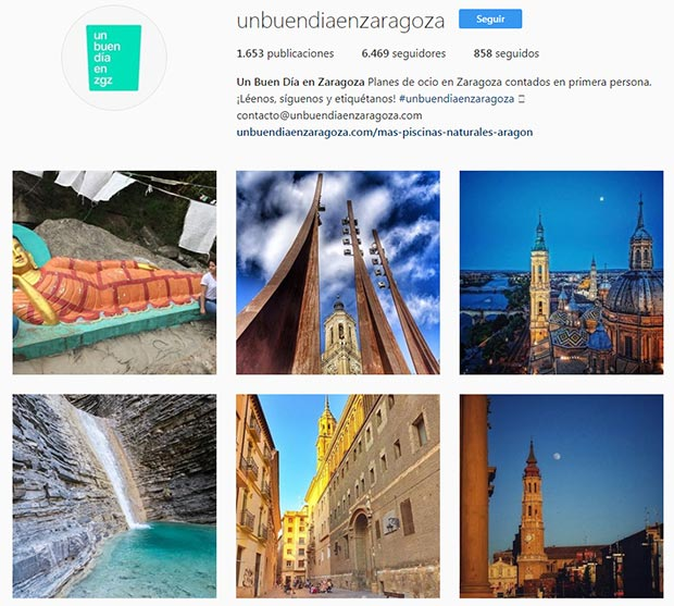 mejores cuentas instagram zaragoza unbuendiaenzaragoza