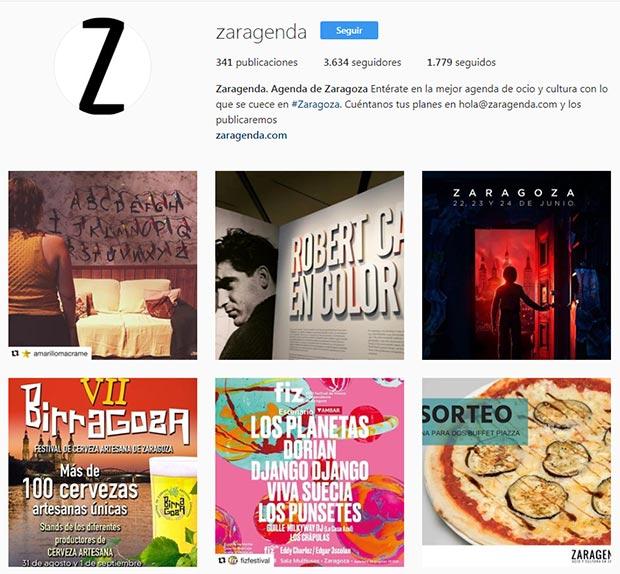 mejores cuentas instagram zaragoza zaragenda