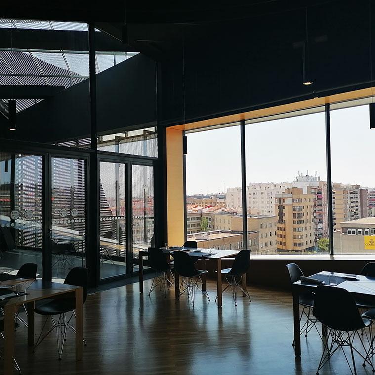 Vistas de Zaragoza desde la Cafetería-Restaurante del CaixaForum