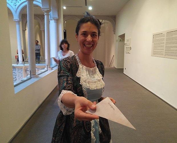 ¡Misión cumplida! María Teresa de Vallabriga y Rozas, condesa de Chinchón, nos dió nuestro trocito de carta que Goya le dirigió.
