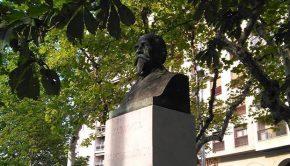 Monumento a Marcos Zapata y Mañas en la Plaza de Aragón en Zaragoza