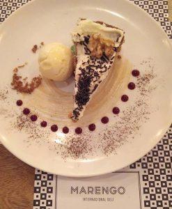 Carrot cake en el Restaurante Marengo