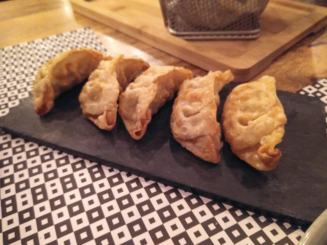 Gyozas de pollo Pekín en el Restaurante Marengo