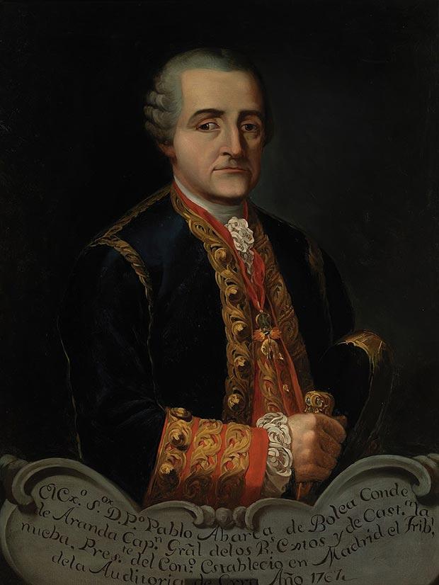Retrato del militar y político español Pedro Pablo Abarca de Bolea (1719-1798), X conde de Aranda