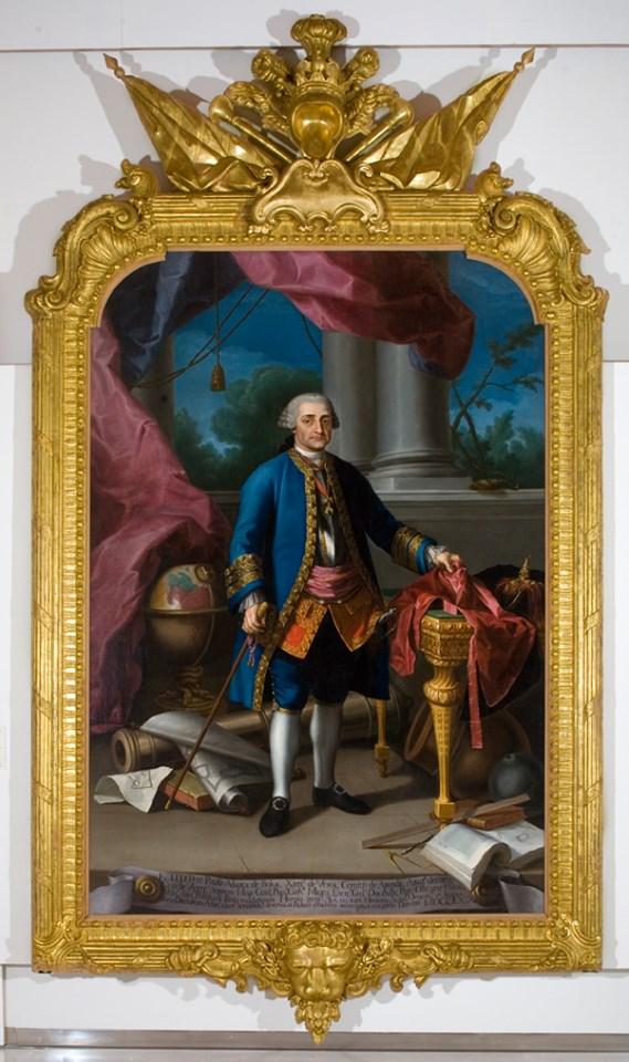 Imagen del Conde Aranda corresponde a un retrato, obra de Ramón Bayeu, conservado en el Museo de Huesca