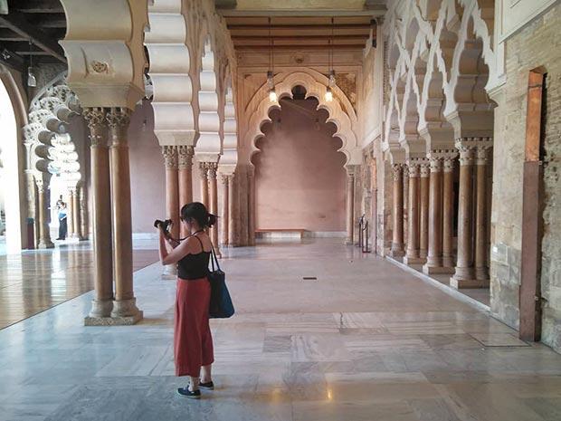 Visitando los restos de la antigua Zaragoza Musulmana