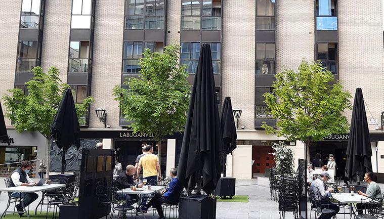 Terraza del restaurante Buganvilla