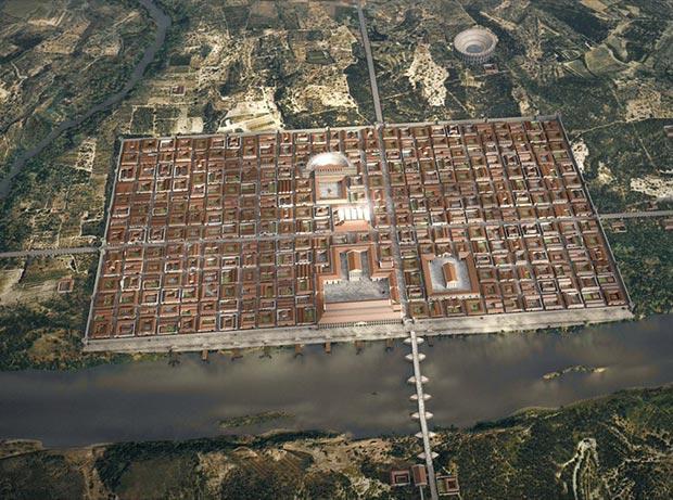 Recreación de la ciudad romana de Caesar Augusta