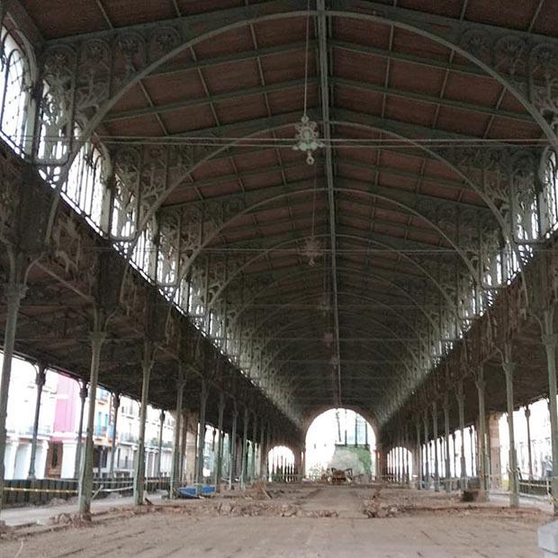 Obras de remodelación del Mercado Central (2019)