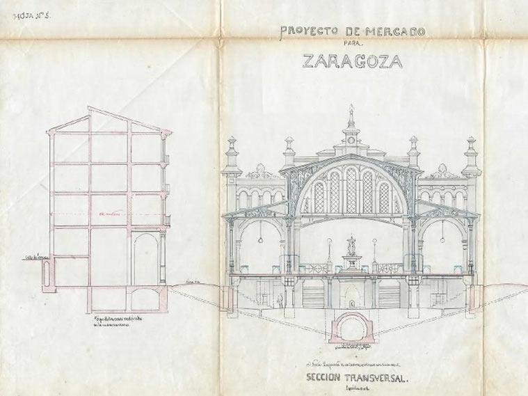 Proyecto original del Mercado Central manuscrito por Félix Navarro en 1895