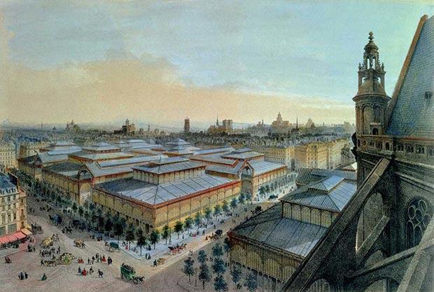 Félix Navarro se inspiró en las estructuras de hierro y acero del parisino mercado de Les Halles
