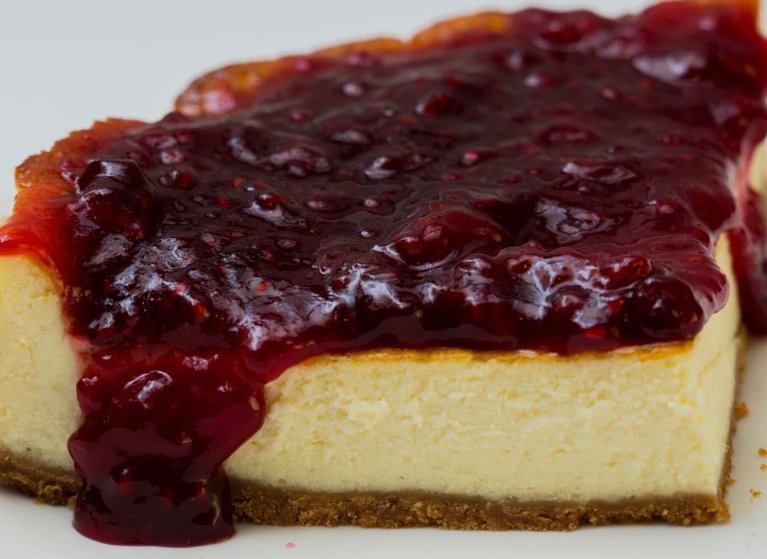 tarta de queso en el mostaza