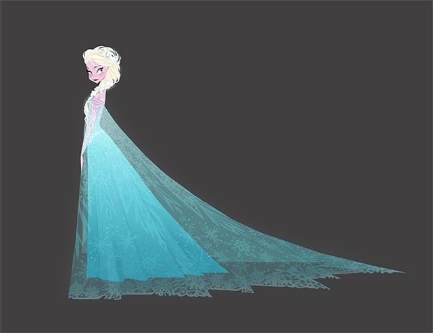 Frozen. El reino de hielo, 2013. Brittney Lee. Pintura digital © Disney Enterprises Inc